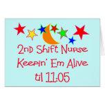 "Nurse Gifts ""2nd Shift Nurse""  Hilarious Cards"