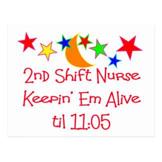 "Nurse Gifts ""2nd Shift Nurse""  Hilarious Postcard"