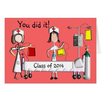 Nurse Graduation Card Class of 2014 Salmon