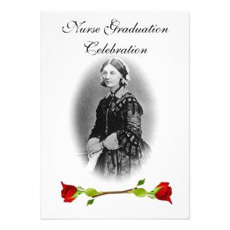 Nurse Graduation Celebration-Florence Nightingale Personalized Invitation