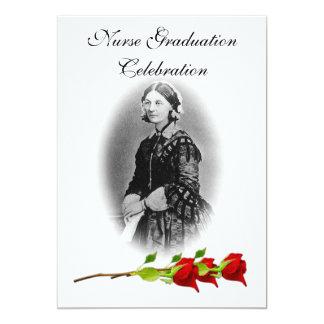 "Nurse Graduation Celebration-Florence Nightingale 5"" X 7"" Invitation Card"