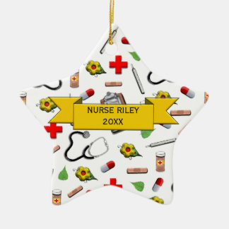Nurse Graduation Ceramic Star Decoration
