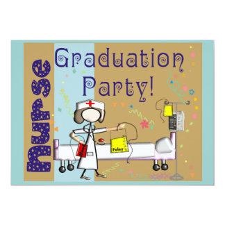 "Nurse Graduation Party Invitations 5"" X 7"" Invitation Card"
