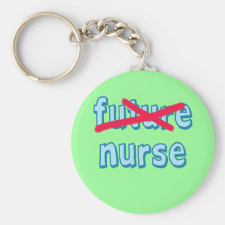 Nurse Graduation Products Basic Round Button Key Ring