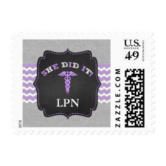 Nurse graduation, RN BSN LPN, SHE DID IT Postage