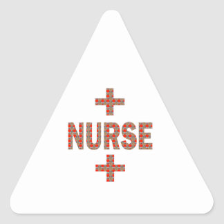 NURSE : HealthCare Hospital Medicine Charity GIFTS Triangle Sticker