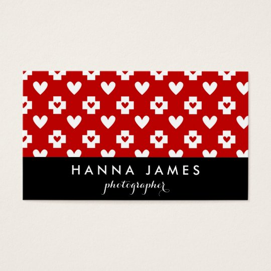Nurse Heart Medical Personalised Business Card