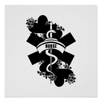 Nurse Heart Tattoo Print