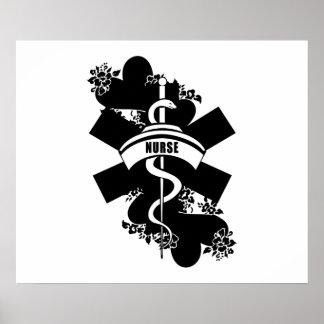 Nurse Heart Tattoo Posters