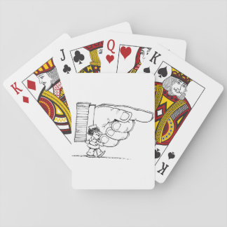 Nurse Holding A Giant Hand Playing Cards