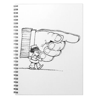 Nurse Holding A Giant Hand Spiral Notebook