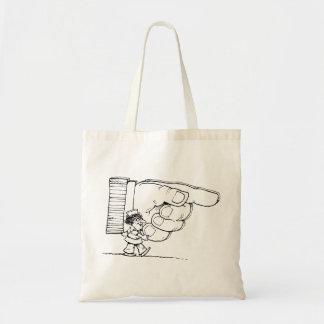 Nurse Holding A Giant Hand Tote Bag