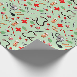 nurse holidays wrapping paper