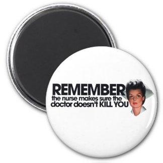 Nurse Humor 6 Cm Round Magnet