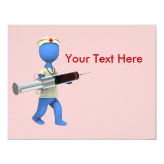 Nurse Humor 4.25x5.5 Paper Invitation Card