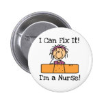 Nurse I Can Fix It T-shirts and Gifts 6 Cm Round Badge