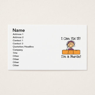 Nurse I Can Fix It T-shirts and Gifts Business Card