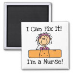 Nurse I Can Fix It T-shirts and Gifts Square Magnet