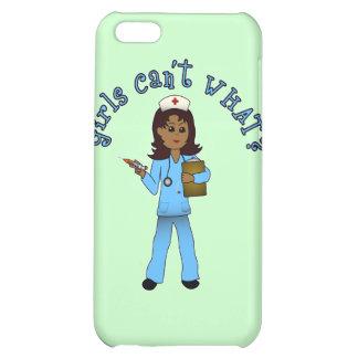 Nurse in Blue Scrubs (Dark) iPhone 5C Cover