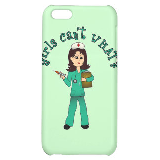Nurse in Green Scrubs (Light) iPhone 5C Cases