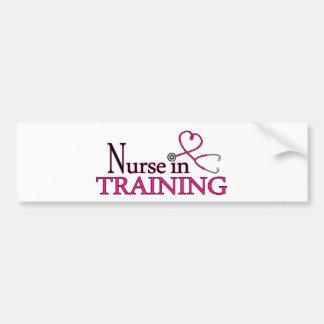 Nurse in Training - Pink Bumper Sticker