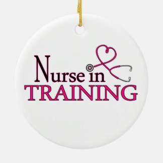 Nurse in Training - Pink Christmas Ornament