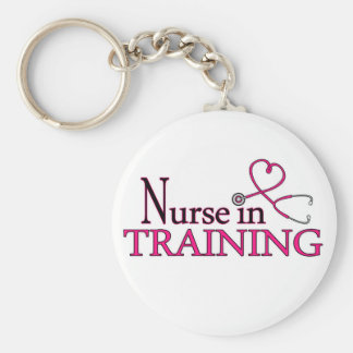 Nurse in Training - Pink Key Ring