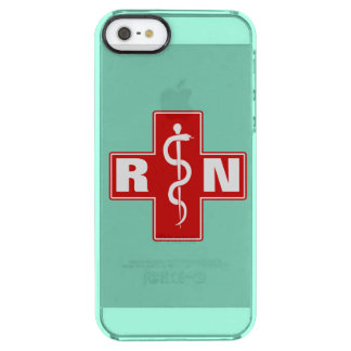 Nurse Initials Clear iPhone SE/5/5s Case