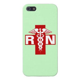 Nurse Initials Scrubs Green iPhone 5/5S Cases