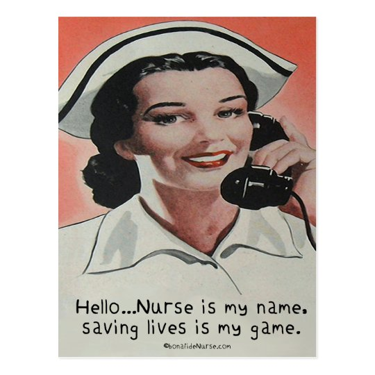 Nurse is my Name Postcard