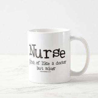 Nurse kind of like a Doctor but Nicer Basic White Mug