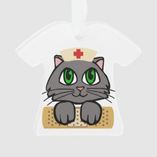 Nurse Kitten Ornament