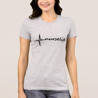 Nurse Life EKG Design T-Shirt