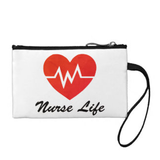 Nurse Life, EKG Heart Pattern Coin Purse