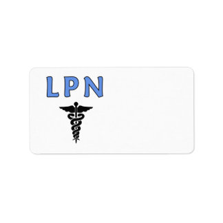 Nurse LPN Caduceus Address Label