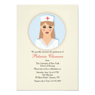 Nurse Medallion Graduation Invitation