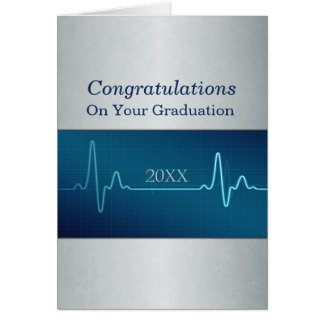 Nurse Medical or Doctor Graduation Custom Dated Greeting Card