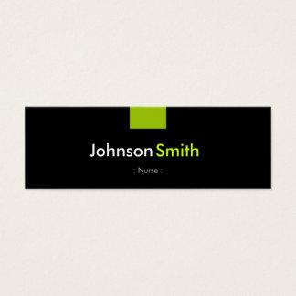 Nurse - Mint Green Compact Mini Business Card