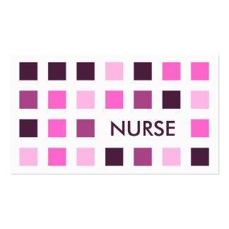 NURSE (mod squares) Business Card