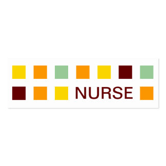 NURSE (mod squares) Pack Of Skinny Business Cards