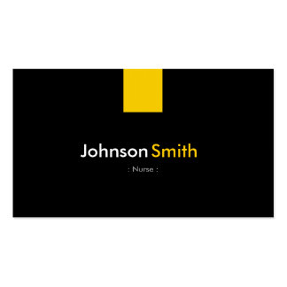 Nurse - Modern Amber Yellow Pack Of Standard Business Cards