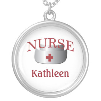 Nurse Name Nurses Custom Neklace Silver Plated Necklace