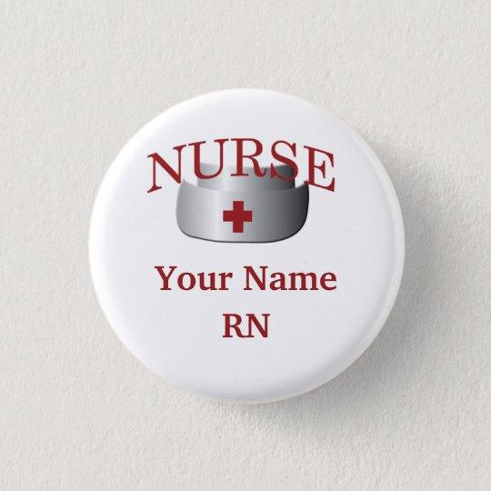 Nurse Name RN Round Button