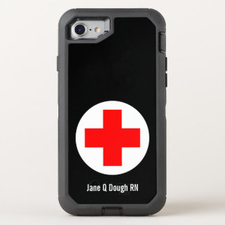 Nurse Name Template OtterBox Defender iPhone 8/7 Case