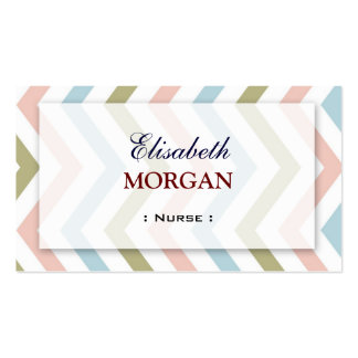Nurse - Natural Graceful Chevron Pack Of Standard Business Cards