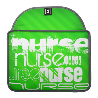 Nurse; Neon Green Stripes MacBook Pro Sleeve