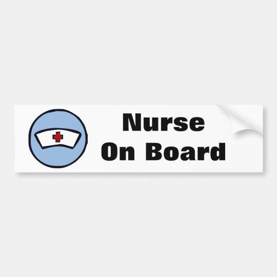 Nurse On Board Bumper Sticker