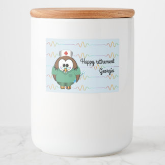 nurse owl - glass jar food label