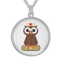 Nurse Owl (w/bandaid) Necklaces