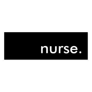 nurse. pack of skinny business cards